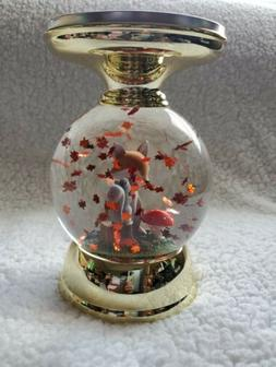 Bath and Body Works Halloween Candle Holder Water Globe Bat
