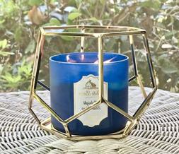 Bath and Body Works Hexagon Geo Frame 3-Wick Candle Holder N