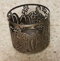Bath & Body Works Metal Fall Pumpkins 3-Wick Candle Holder