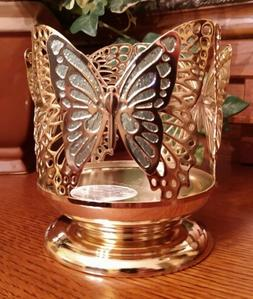 Bath And Body Works Butterfly Pedestal 3-Wick Candle Holder