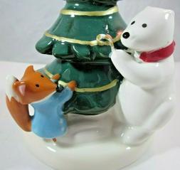 Bath & Body Works Polar Bear Fox Ceramic Pedestal Mini Holid