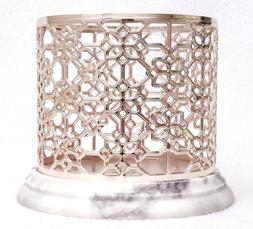 Bath & Body Works ROSE GOLD MARBLE Large 3-Wick Candle Holde