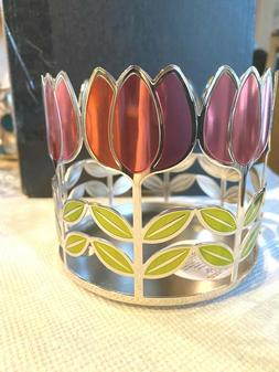 BATH & BODY WORKS SPRING TULIP 3 WICK CANDLE HOLDER