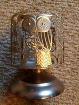 Bath And Bodyworks Pedestal Candle Holder Shimmery Owl