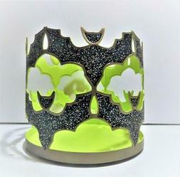 BATH BODY WORKS BATS WITH GREEN HALLOWEEN 3 WICK Candle Hold