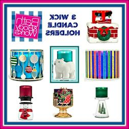 Bath Body Works Candle Holders--3 Wick  + Other Sizes Free S