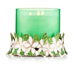 Bath Body Works FLORAL WREATH PEDESTAL Large 3-Wick Candle H