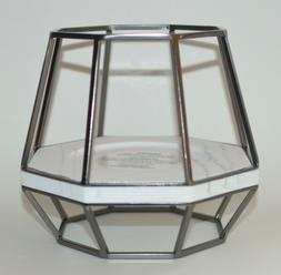 BATH BODY WORKS GEOMETRIC PEDESTAL FRAME LARGE 3 WICK CANDLE