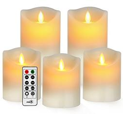 Battery Candles, Flameless Candles Realistic Moving Set of 5
