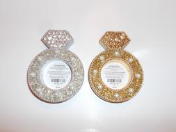 PIER 1 BEADED DIAMOND RING TEALIGHT CANDLE HOLDER CHOICE OF
