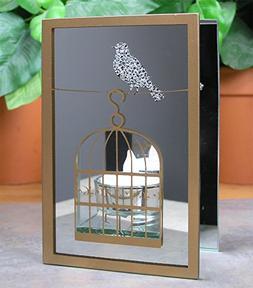 BANBERRY DESIGNS Bird Reflecting Candle Holder - Birdcage De