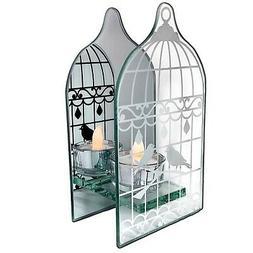 BANBERRY DESIGNS Birdcage Shaped Tea Light Holder - Mirrored