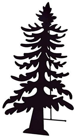 "27.5"" Black Christmas Tree Silhouette Tea Light Candle Holde"