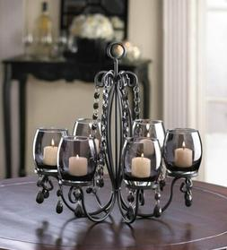 BLACK hanging chandelier CANDELABRA Candle holder Wedding ta
