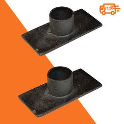 Black Iron Taper Candle Holder, Set of 2