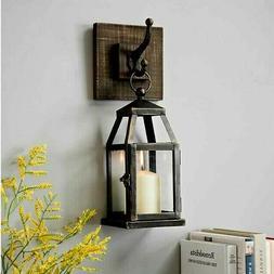 Black Lantern Sconce Candle Holder Elegant Hanging  Function