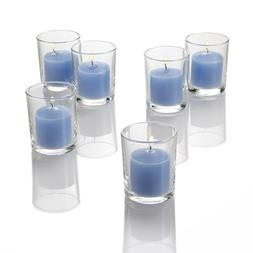 Set of 12 Blue Ocean Breeze Richland Votive Candles and 12 G