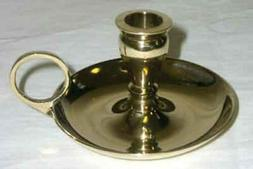 "New Age Brass Chime Candlestick Candle Holder for 1/2"" Diama"