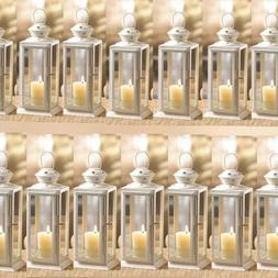 BULK LOTS Extra Large Country White Contemporary Iron Votive Candle Lanterns