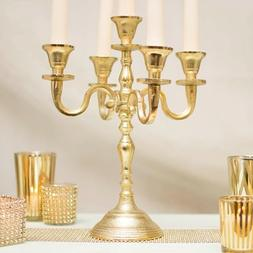 Gold Candelabra Taper Candle Holder, Centerpiece Table Decor