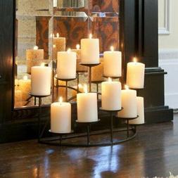 SEI Southern Enterprises 10 Candle Candelabra, Matte Black F