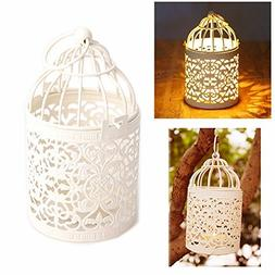 Candle Holder, New Vintage Creative Hollow Hanging Bird Cage