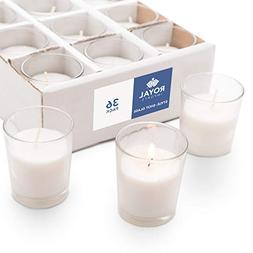 Royal Imports Votive Candles Bulk Set of 36 with White Candl