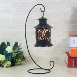 Candle Holder Iron Stand Candlestick Lantern Hanging Rack Be