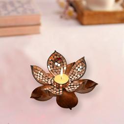 Global Candle Holder, Mosaic Lotus Tea Light Candle Holder