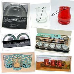 Candle Holders Tea Light Pillar Votive Taper Glass Metal Woo