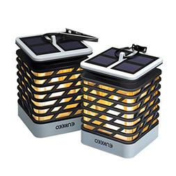 ENKEEO 2 Pack Candle Lantern with Flameless Flickering LED C
