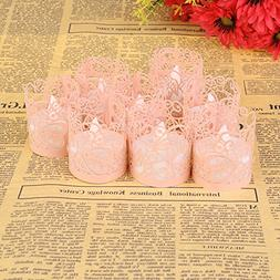 Candle Wraps, Sevend 50 Pieces Tea Light Wraps and Candles H