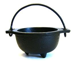 Cast Iron Cauldron w/handle, ideal for smudging, incense bur