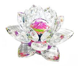"""6"""" Centerpieces Crystal Lotus Candle Holder Display, Tealigh"""