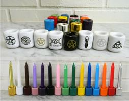 Ceramic Chime CANDLE & HOLDER: Your Choice Color!  Wicca