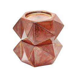 Large Ceramic Star Candle Holders - Russet. Set Of 2