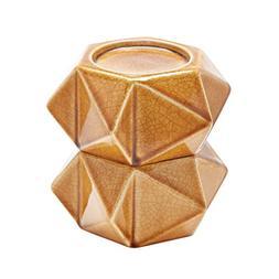 Large Ceramic Star Candle Holders - Honey. Set Of 2
