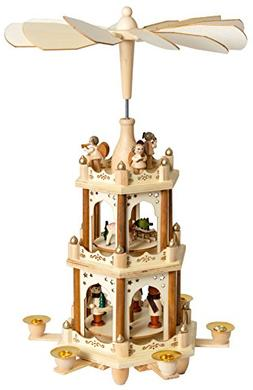 BRUBAKER Christmas Decoration Pyramid 18 Inches Wood Nativit