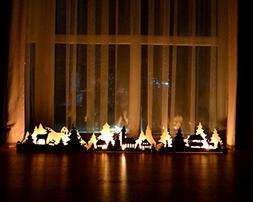 Christmas Lights, Christmas mantle decor, Mantle Candle Hold