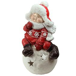 "Northlight 19.25"" Christmas Morning Boy on a Snowball Christ"