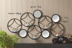 Circle mirror POP ART modern geometric artisanal METAL Wall