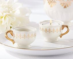 Classic Gold Teacups Tealight Holder