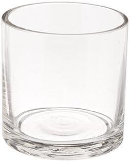 WGV Clear Cylinder Glass Vase/Votive Candle Holder, 3-Inch