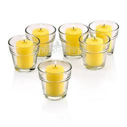 Clear Glass Flower Pot Votive Candle Holders With Citronella