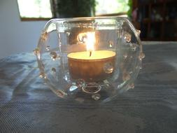 Abigail Clear Glass Candle Holder