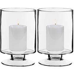 "CYS EXCEL Stem Candle Holders for 3"" or 4"" Pillar Candle, Hu"