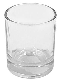 Clear Glass Votive Candle Holder Pack of 12 Cylinder Shape 2
