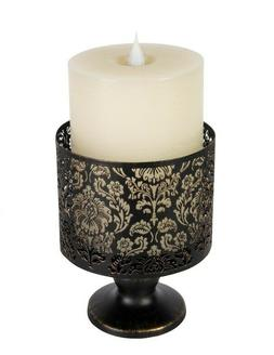 Victorian Trading Co Black Lace Metal Candle Holder