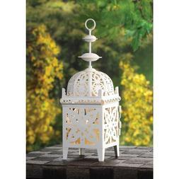 Cream White Medallion Candle Holder /Hanging Lantern