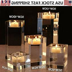 Crystal Candle Holder Candlestick Wedding Party Tea Light Ta